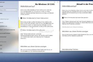 Zeitleiste (Timeline) unter Windows 10 wird beschränkt und speichert nur noch den lokalen Verlauf
