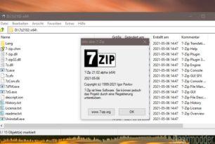 7-Zip 21.02 verbessert die Geschwindigkeit bei der Dekomprimierung und mehr