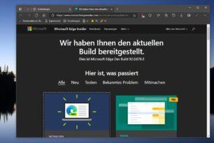 Microsoft Edge 92.0.878.0 im Dev-Kanal wurde bereitgestellt