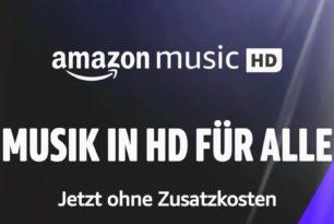 Amazon Music HD ab sofort ohne Zusatzkosten