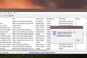 WebBrowserBookmarksView – Favoriten aus allen Browsern anzeigen, speichern und mehr