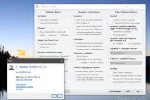 7+ Taskbar Tweaker 5.11.2 korrigiert wieder Fehler durch die Windows 10 Updates
