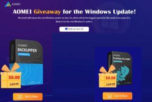AOMEI Partition Assistant Professional als Giveaway + Backupper zum Start vom neuen Windows 11