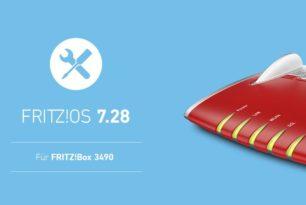 FRITZ!Box 3490 bekommt das FRITZ!OS 7.28