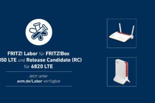 FRITZ!Box 6850 und 6820 LTE v1, v2, v3 Update als Release Candidate für das FRITZ!OS 7.27
