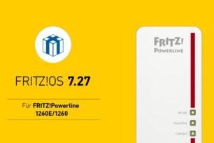 FRITZ!Powerline 1260 1260E bekommt FRITZ!OS 7.27
