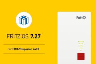 FRITZ!Repeater 2400 bekommt nun auch FRITZ!OS 7.27