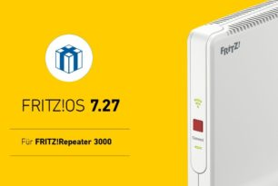 FRITZ!Repeater 3000 nun auch mit FRITZ!OS 7.27