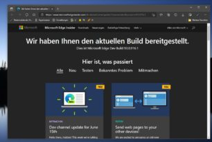 Microsoft Edge 93.0.916.1 ist im Dev-Kanal erschienen