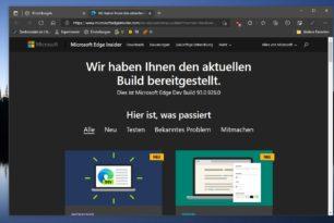 Microsoft Edge 93.0.926.0 im Dev-Kanal mit neuen Funktionen erschienen