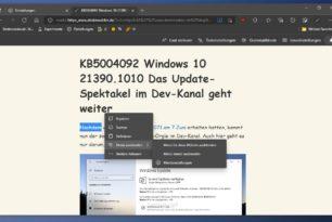 Microsoft Edge: Mini-Menü jetzt überall und Schriftartauswahl im plastischen Reader