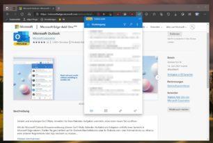 Microsoft Outlook als Erweiterung für Microsoft Edge kann installiert werden