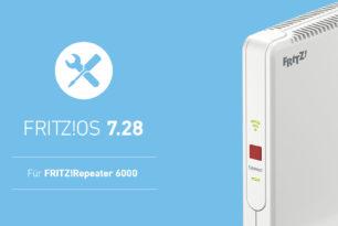 FRITZ!Repeater 6000 erhält Wartungsupdate auf FRITZ!OS 7.28