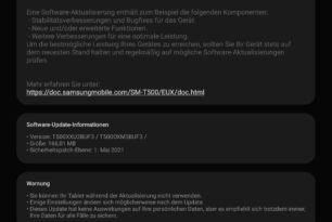 Samsung Galaxy Tab A7: Weiteres Update verfügbar