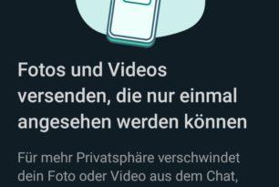 """WhatsApp Beta für Android: """"Einmal Ansehen"""" Funktion wird verteilt"""