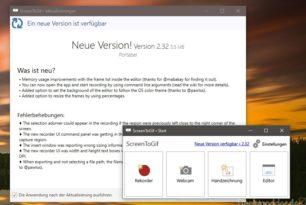 ScreenToGif 2.32 steht mit vielen Verbesserungen zum Download bereit