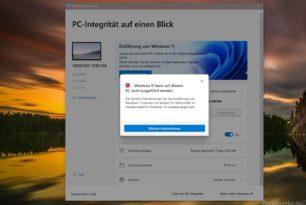 Windows 11 PC-Integrität überprüfen – Windows 11 trotzdem installieren, kein Problem