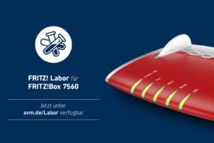 FRITZ!Box 7560 und 7580 mit einem neuen Labor Update