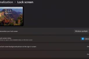 Animierter Sperrbildschirm in Windows 11 ist möglich