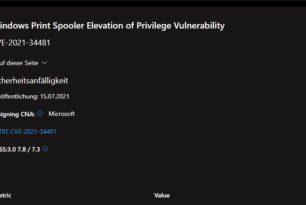 CVE-2021-34481 – Eine weitere Sicherheitsanfälligkeit in der Druckerwarteschlange (PrintNightmare)