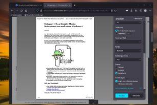 Firefox 91 bietet wieder das vereinfachte Drucken an