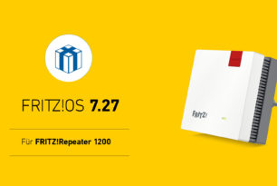 FRITZ!Repeater 1200 erhält Update auf FRITZ!OS 7.27