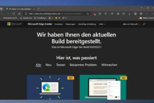 Microsoft Edge 93.0.933.1 im Dev-Kanal mit Tab-Gruppen per Standard aktiviert und mehr