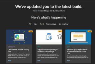 Microsoft Edge 93.0.957.0 ist im Dev-Kanal mit neuen Funktionen erschienen