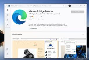 Microsoft Edge ist nun auch im Microsoft Store unter Windows 11 vertreten