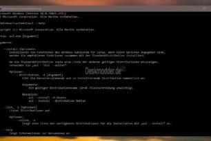 Windows 10 WSL-Installation jetzt mit einem Befehl möglich
