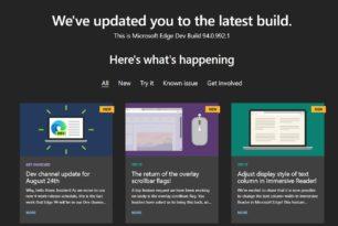 Microsoft Edge 94.0.992.1 im Dev-Kanal – Wechsel auf die Version 95 steht bevor