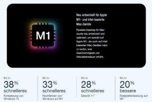 Parallels 17 unterstützt nun offiziell Windows 11 und macOS Monterey auf dem M1 Chip