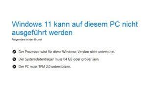 Windows 11: Wann erfolgt eine TPM, Secure Boot, CPU oder Ram-Abfrage?