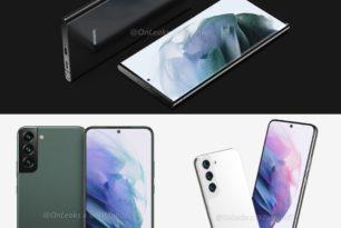 Samsung Galaxy S22, Galaxy S22+ und Galaxy S22 Ultra: Erste Render-Bilder der S22-Reihe landen im Netz