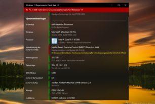 MBEC Funktion in der CPU ist Voraussetzung für Windows 11