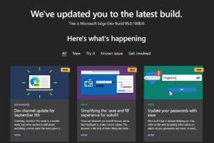 Microsoft Edge 95.0.1000.0 steht im Dev-Kanal bereit