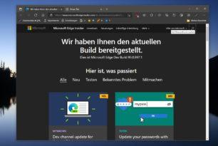 Microsoft Edge 95.0.997.1 – Erste Version 95 im Dev Kanal