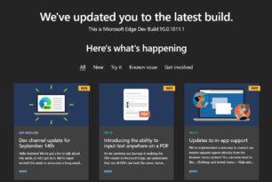 Microsoft Edge 95.0.1011.1 im Dev Kanal mit neuen Funktionen