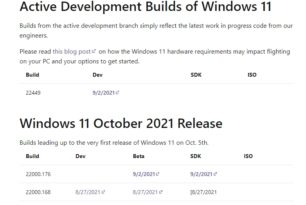 """Auch der Flight Hub ändert die Bezeichnung auf """"Windows 11 October 2021 Release"""""""