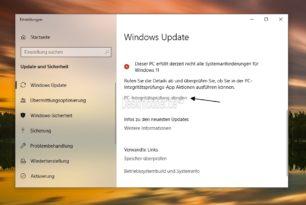 Windows 11: Was nützt einem die PC-Integritätsprüfung wenn selbst Windows Update meckert