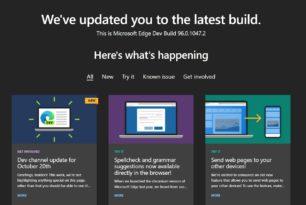 Microsoft Edge 96.0.1047.2 im Dev-Kanal kommt wieder mit neuen Funktionen