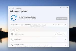 Windows 11 22489 steht für die Insider im Dev Kanal bereit
