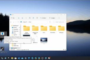 Windows 11 Dateien auf ein Icon in der Taskleiste ziehen und öffnen