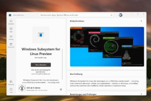 Windows Subsystem for Linux im Microsoft Store für Windows 11 – WSL wird später aus dem Windows Image entfernt