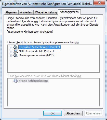 Win7 Dienste - Beschreibung und Einstellmöglichkeiten