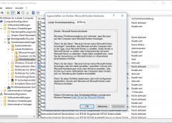 Windows 10: Anmeldung mit einem Microsoft-Account und Anlegen eines Microsoft-Accounts verhindern