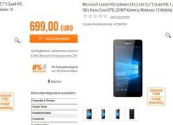Lumia 950 (XL) Kaum vorgestellt und schon gelistet