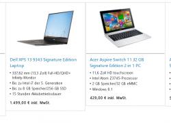 """Ohne Bloatware – Microsoft Store nun mit weiteren Geräten der """"Signature Edition"""""""