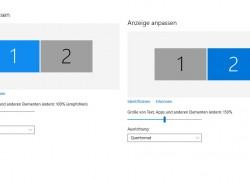 Windows 10: Skalierungen für jeden Monitor einzeln einstellen